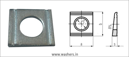 DIN 434 square taper washer